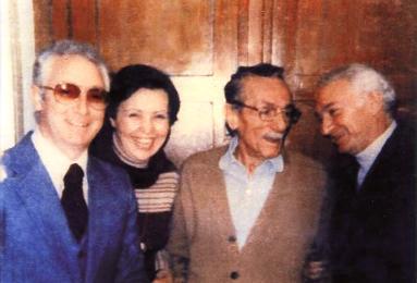 Eduardo con Mario De Bonis, la moglie Celeste e il frate